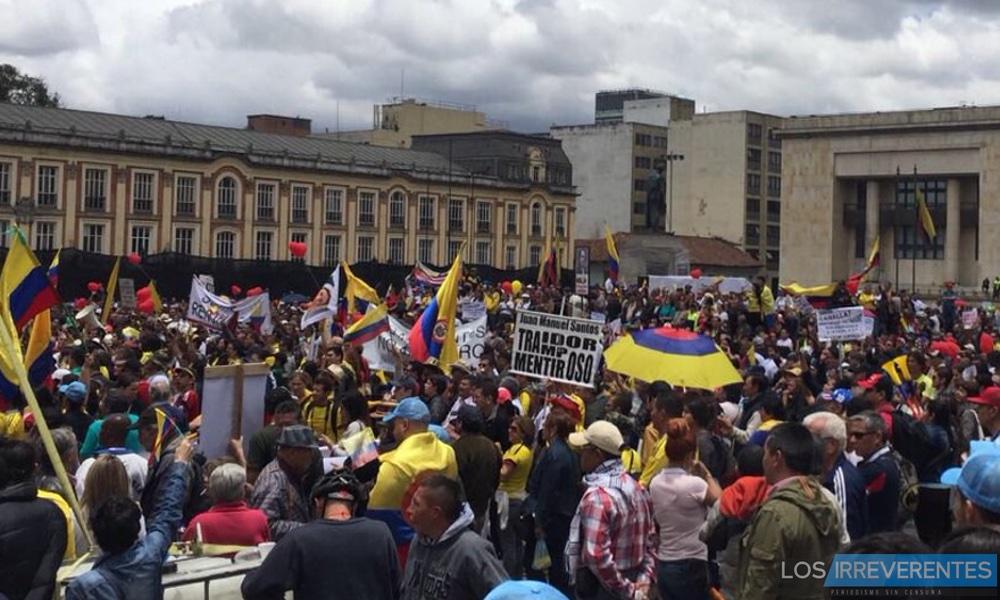 Colombia gritó ¡Fuera Santos, fuera!