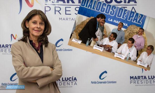 Las condiciones de Marta Lucía
